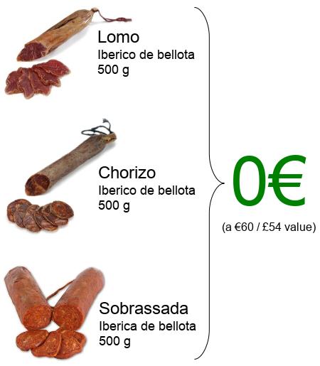 Lomo, Chorizo and Sobrasada FREE