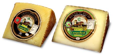 Wedges of Spanish cheese