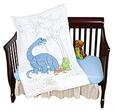 Dinosaur Crib Quilt Top